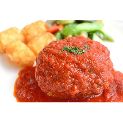【高知のブランド牛・豚】洋食屋さんの土佐あかうしと四万十ポークのハンバーグ4個 自家製トマトソース付き